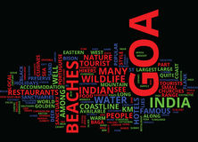 Goa Holidays Text Background  Word Cloud Concept Royalty Free Stock Image