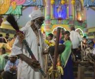 GOA, India †'Oct, 2017: Indiańscy baby błogosławieństwa ludzie przy fea Obraz Royalty Free