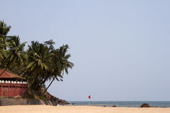 GOA India Beach, beautiful with palm trees Stock Images