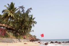 GOA India Beach, beautiful with palm trees Stock Photo
