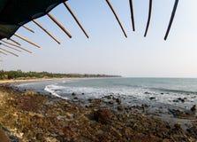 Goa India del paesaggio della spiaggia di arambol di bellezza immagini stock