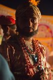 GOA, India, Oct, 2017: Unknown actor of the Indian village theat. Er. Indian Traditional Performance Shivaji on Oct 2017, GOA, India. Performance in India is Stock Photo