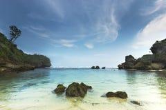 Goa Kina strand Arkivfoto