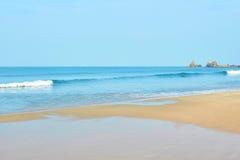 Goa. Landscape, coastline in Goa, the tide Stock Photos