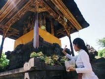 Goa-lawah Tempel Stockbilder