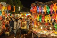 Goa nocy rynek fotografia royalty free