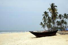 Goa setzt Colva auf den Strand Stockbilder