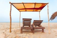 Goa strand fotografering för bildbyråer