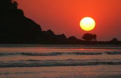 Goa sunset. Sunset  on Palolem beach. Goa. India Royalty Free Stock Photos