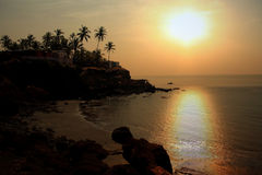 Goa Sunset Stock Photo