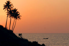 Goa sunset Royalty Free Stock Images