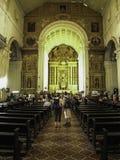 Goa Tourism. Tourists at the Saint Francis Xavier Church in Old Goa India Royalty Free Stock Photo