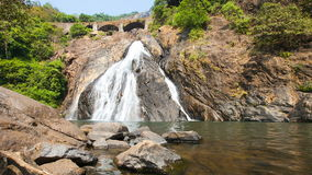 Goa Waterfall timelapse in India stock video footage