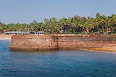 Goa wybrzeże Candolim indu Zdjęcia Royalty Free