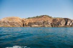 Goa wybrzeże Candolim indu Obrazy Royalty Free