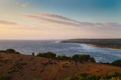 Goa wybrzeże na zmierzchu Obrazy Stock