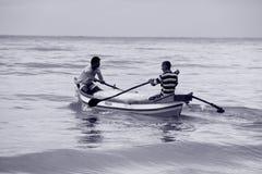 Goa-Zeit: Fisher-Männer Lizenzfreies Stockbild