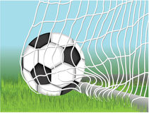 Goal. Vector illustration of a soccer ball Stock Image