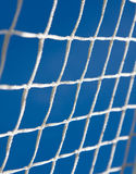 Goal. Soccer goal net background on blue sky Stock Photo