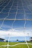 Goal. The soccer or football stadium Royalty Free Stock Photos