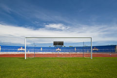 Goal. The soccer or football stadium Stock Images