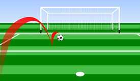 Goal. Illustration of a soccer ball who bouncing goes on goal Stock Image