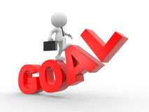Goal. 3d people - man, person with a word goal Royalty Free Stock Image