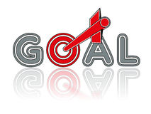 Goal. Vector illustration of a business concept Royalty Free Stock Photography