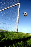 Goal. A soccer door and ball Royalty Free Stock Photo