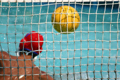 Goal. Water polo stock image