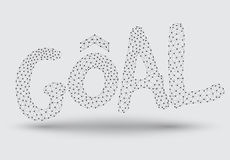 GOAL abstract line and dot Royalty Free Stock Image