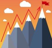Goal Achievement or Success Concept. Stock Images