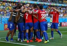 Goal Alexis Sánchez Coupe du Monde 2014 Stock Images