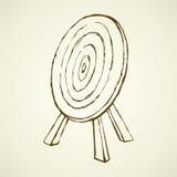 Goal for arrows. Vector drawing Stock Photos