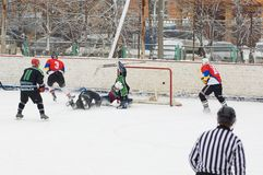 Goal into Avangard gate Royalty Free Stock Photography