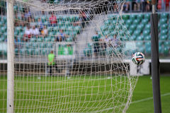 Goal, ball in the net Stock Photos