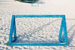 Goal for beach soccer. On the sand Stock Photos