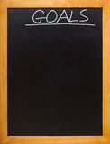 Goal blackboard with copyspace Royalty Free Stock Photos