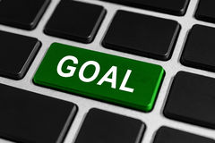 Goal button on keyboard Royalty Free Stock Image