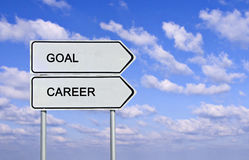 Goal and career Royalty Free Stock Image