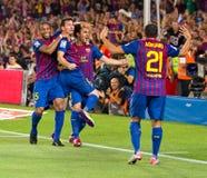Goal celebration Royalty Free Stock Images
