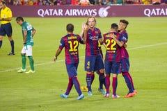 Goal celebration Stock Photography