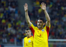 Goal celebration of Romanian Footbal Player Ciprian Marica Stock Images
