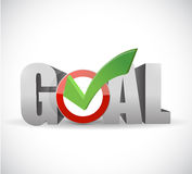 Goal and check mark illustration design Royalty Free Stock Photos