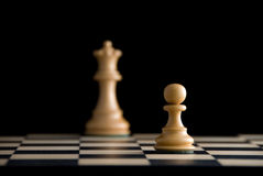 Goal. Chess. Focus on pawn Royalty Free Stock Image