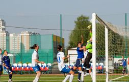 A goal from a corner kick Royalty Free Stock Photo