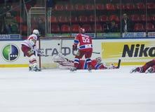 Goal into CSKA gate Stock Photos