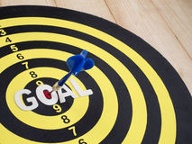 Goal on dart board 5 Royalty Free Stock Photography
