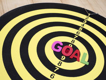 Goal on dart board 6 Royalty Free Stock Image