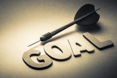 Goal and dart Royalty Free Stock Photos